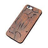 Back Cover Ultra-thin / Other Geometric Pattern Wooden Hard CarvedCase Cover ForApple iPhone SE/5s/5