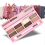 By Nanda® 8 Shimmer Earth Color Eyeshadow Palette In Pink Box
