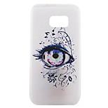 espalda Diseño Caricaturas TPU Suave Eye Cubierta del caso para Samsung Galaxy S7 edge plus / S7 edge / S7