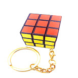 Magic Cube 3*3*3 With Keychain / Speed Smooth Speed Cube White Plastic Toys
