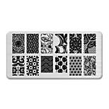 BlueZOO Rectangle Printing Nail Art Stamping (C-030)
