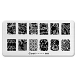 BlueZOO Rectangle Printing Nail Art Stamping (C-003)