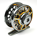 NEW Space Aluminum Fly Fishing Reel 2+1BB Metal Drag Ice Fishing Fly Wheel 050