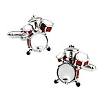Men's Fashion Drum Style Silver Alloy French Shirt Cufflinks (1-Pair)