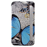 Butterfly Painted Voltage Holster PU Material Clamshell Phone Cover for LG G5/K10