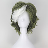 Cosplay Wigs Kabaneri Of The Iron Fortress Ikoma Green Short Anime Cosplay Wigs 32 CM Heat Resistant Fiber Male