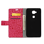 Luxury Small Hag Skin Leather Wallet Stand Flip Cover for Huawei G7 Plus Case (Assorted Colors)