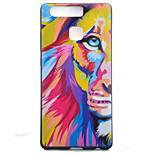 TPU Material Lion Black Slim Painted Soft cellphone Case for Huawei Ascend P9/P9 Lite
