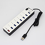 USB 3.0 8 Ports/Interface USB Hub Random Color 19*3.4*1.5