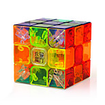 Magic Cube IQ Cube Yongjun Three-layer Speed Smooth Speed Cube Magic Cube puzzle Transparent ABS