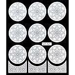Nail Art Template Sticker-(NF320-White)