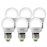IENON® 6 pcs  3W E26/E27 LED Globe Bulbs G60 6 SMD 210-240 lm Warm White / Cool White Decorative AC 100-240 V