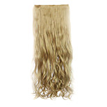 Flaxen Length 70CM Europe and The United States Hot Style Five Clip Clip Hair Curly Hair(Color 16)