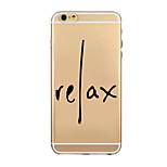 modelo fresco frase palabra TPU de teléfono de la cáscara transparente suave caso de la contraportada para iPhone6 / iPhone6 plus