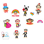 Colorful Monkey Creative DIY Kids Room Wall Stickers Environmental PVC Cartoon Monkey Wall Decals