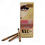 12 Color Glitter Lip Liner Eye Shadow Eyeliner Pencil Pen Cosmetic Makeup Set