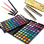 3in1 Eye Makeup Set(120 Colors Eyeshadow Cosmetic Palette+4PCS Eyeshadow Brush+2PCS Eye Lash Expansion Curling Mascara)