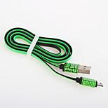 USB 2.0 Flat Aluminum Cables 100cm