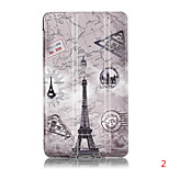 Coloured Drawing or Pattern PU Leather Huawei M2(PLE-703L) youth version case of special fixture smart cover