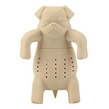 Silicone Coffee Tea Infuser Dog Pug Teapot Herbal Spice Strainer Filter Gift(Random Color)