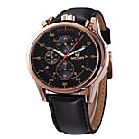 MEGIR® Men's Leather Band 30M Water Resistant Dress Sports Watch Jewelry Fashion Wrist Watch Cool Watch