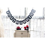 Beautiful Just Married Wedding Banner Bunting Garlands Photo Props for Table Decoration
