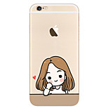 Beauty Jiang  Pattern Transparent TPU painting soft case for iPhone6s/6