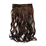 Borwn Length 60CM Synthetic Curly Hair Mixed Color Wig(Color 4A/30B)
