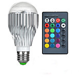 10W E26/E27 LED-bollampen A50 1 Krachtige LED 600-800 lm RGB Op afstand bedienbaar AC 85-265 V 1 stuks