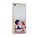 Metal Frame Protective Shell Hard  Painting for HUAWEI P8 (Golden Box + Boy/Girl Are Innocent Playmates)
