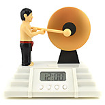 Creative Cute Knock A Gong Multi-functional Alarm Clock
