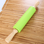 38CM Random Color Silicone Rolling Pin Fondant Roller Cake Decorating Pastry Tools