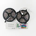 ZDM™ 10 M 600 5050 SMD RGB Klippbar / Fjärrkontroll / Lämplig för fordon / Självhäftande / Färgskiftande 144 W RGB-ljusslingor DC12 V