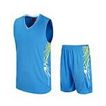 Ensemble de Vêtements/Tenus(Noir / Vert claire / Bleu Ciel) -Sport de détente / Badminton / Basket-ball / Course-Sans manche-Homme
