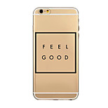 Mercurial Phrase Pattern TPU Transparent Soft Shell Phone Case Back Cover Case for iPhone6/iphone6 plus
