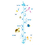 Wall Stickers Wall Decals Style Little Fish in The Sea Measure Your Height PVC Wall Stickers