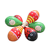 Wood Red/Green Child Rattle for Children All Musical Instruments Toy Random Delivery