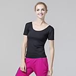 Workout clothes uniforms female adult coat short sleeve dance aerobics sport coat