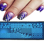 1pcs 12*6CM Nail Art Stamping Plate Geometric Image Design Beautiful Flower Nail Tools 09-16