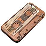 pera nastro magnetico in legno intaglio protettiva copertura posteriore iphone caso duro per il iphone 5s SE / iPhone / iPhone 5