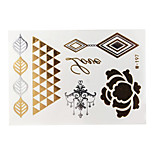 Lovely Waterproof Metal Small Gold Face Sticker W197