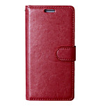 PU Leather Case Photo Frame Wallet Book Cover For Sony Xperia M5 Crazy Horse Grain Cover With 9 Card Slots