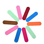 10pcs Mini Nail File Colorful Double Side Nail Buffer Sanding Polish Nail Art Tools
