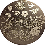 Charming Spring Nail Art Stamp Template Image Plate Nail Stamping Plate BORN PRETTY BP24