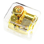 ABS Gold Creative Romantic Music Box for Gift