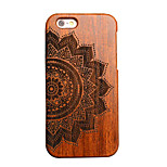 Pear Wooden Half Flower Totems Carving Protective Back Cover Hard iPhone Case for iPhone 6S Plus/iPhone 6 Plus/6s/6
