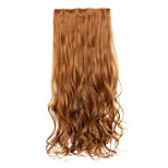 Brown Length 70CM Europe and The United States Hot Style Five Clip Clip Hair Curly Hair(Color 27A)