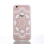 TPU Full Flower Pattern Transparent Back Case for iPhone 6s 6 Plus