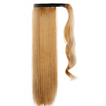Brown 60CM Synthetic High Temperature Wire Wig Straight Hair Ponytail Color 6A