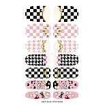 K5652 Water Transfer Nail Art Decals Cartoon Butterfly Grid Design Nail Sticker